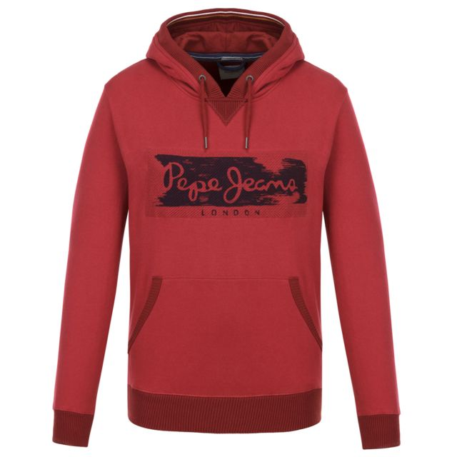 900ea70f9ada5 Pepe Jeans - Woodward Sweat Capuche Homme - Taille Xxl - Rouge - pas cher  Achat   Vente Sweat homme - RueDuCommerce