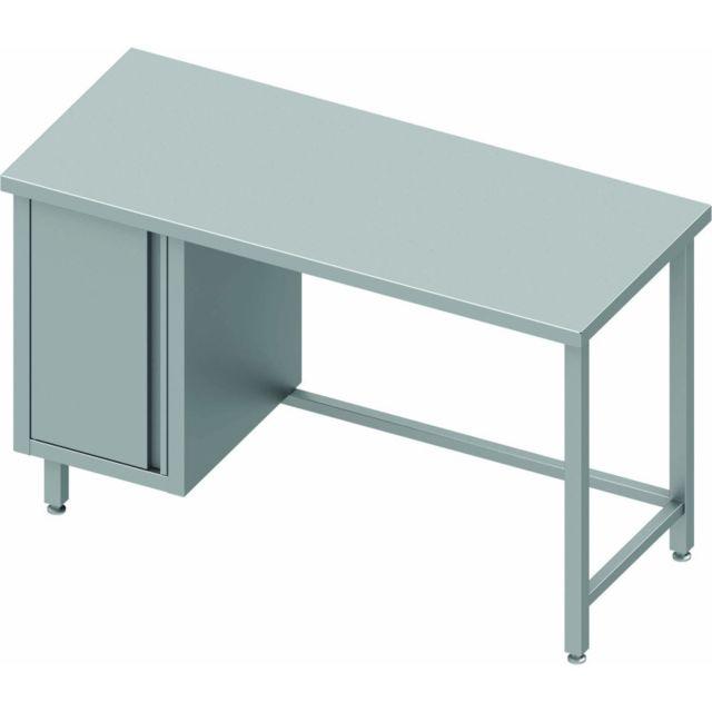 Materiel Chr Pro Table Inox Avec Porte Sans Dosseret - Profondeur 600 - Stalgast - inox 800x600 600