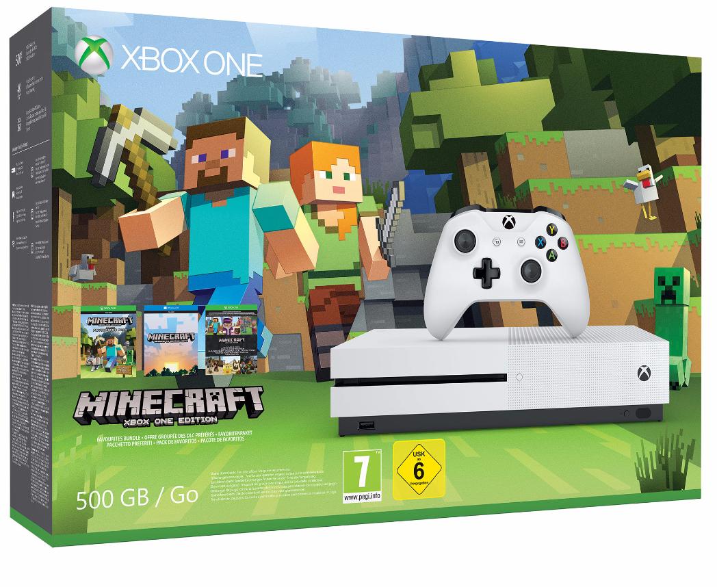 Xbox One S 500 Go - EDITION MINECRAFT