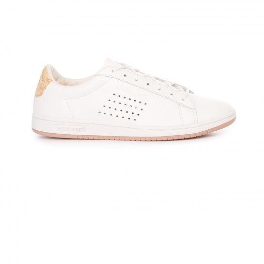 66f1ec21e40 Lecoq Sportif - Chaussures Arthur Ashe Raffia Marshmallow - Le Coq Sportif