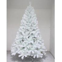 Aucune - Sapin de Noël Luxe Alexei 165 cm blanc