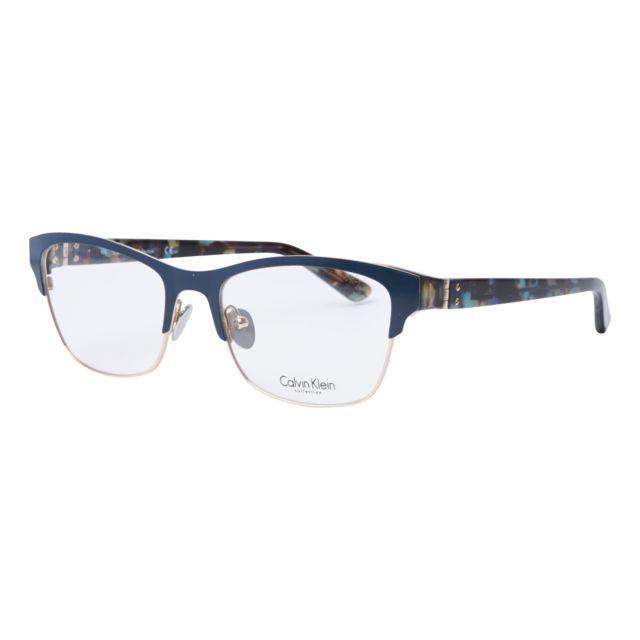 d191675063b06 Calvin Klein - Lunettes de soleil Ck-8021 419 Femme Bleu - pas cher Achat    Vente Lunettes Tendance - RueDuCommerce