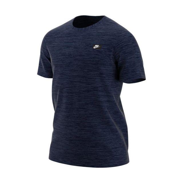 f30a5d7490207 Nike - Tee-shirt Sportswear Modern - Ah7925-473 Bleu - pas cher Achat   Vente  Tee shirt homme - RueDuCommerce