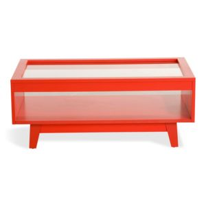 Alin a camelia table basse style scandinave rouge coquelicot pas cher achat - Table basse scandinave alinea ...
