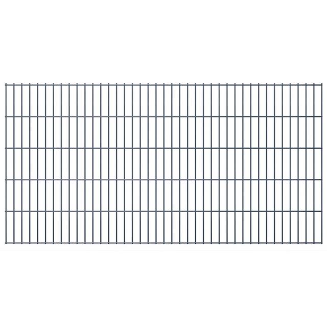 Vidaxl Panneaux de clôture 2D pour jardin 2008x1030 mm 46 m Gris