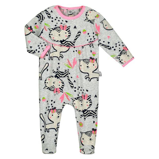 999019af9b9ea Petit Beguin - Pyjama bébé Jungle Flowers - Taille - 12 mois - pas ...