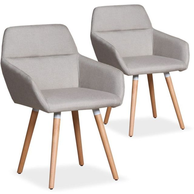 Paris Prix Lot de 2 Fauteuils Scandinaves