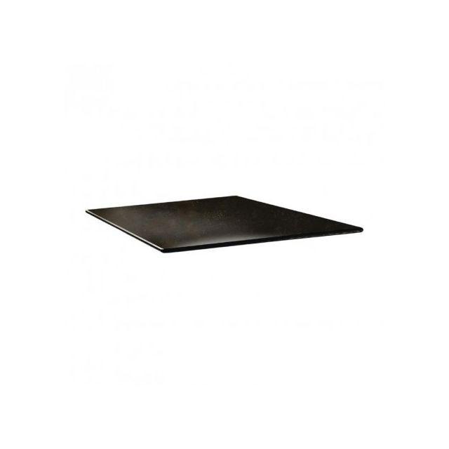Topalit Plateau de table carré - 70 x 70 -smartline Cyprus metal - Cyprus métal 700 mm