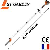 Gt Garden - Élagueuse thermique sur perche, 52 cm3, 3 Cv, longueur 4.15 mètres