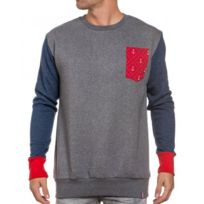 French Kick - Sweat homme tricolor longues manches