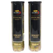 Wilson - Balles de tennis Us open bipack 2 tubes Jaune 25303