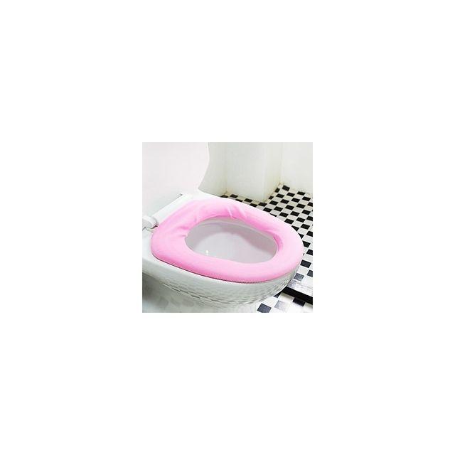 Alpexe Couverture siège de toilettes Wc Rose