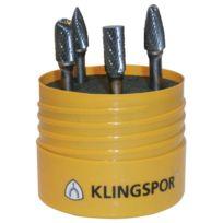 Klingspor - 4 Fraises Limes En Coffret - Ø tête mm:9,6