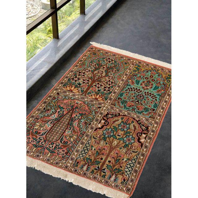 un amour de tapis tapis d 39 orient nou main cachemire 21 pas cher achat vente tapis. Black Bedroom Furniture Sets. Home Design Ideas