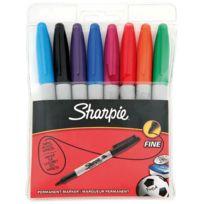 Sharpie - marqueurs ogive pf coloris assortis noir, bleu, rouge, vert, turquoise, orange, rose, violet