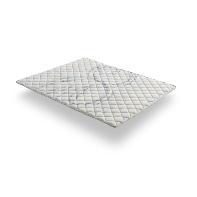 COSMOS Sur-matelas TOPPER ATLAS 135x200 cm - Mémoire de forme VISCO V200® - Mouse HR Active Latex® - Antibactérien