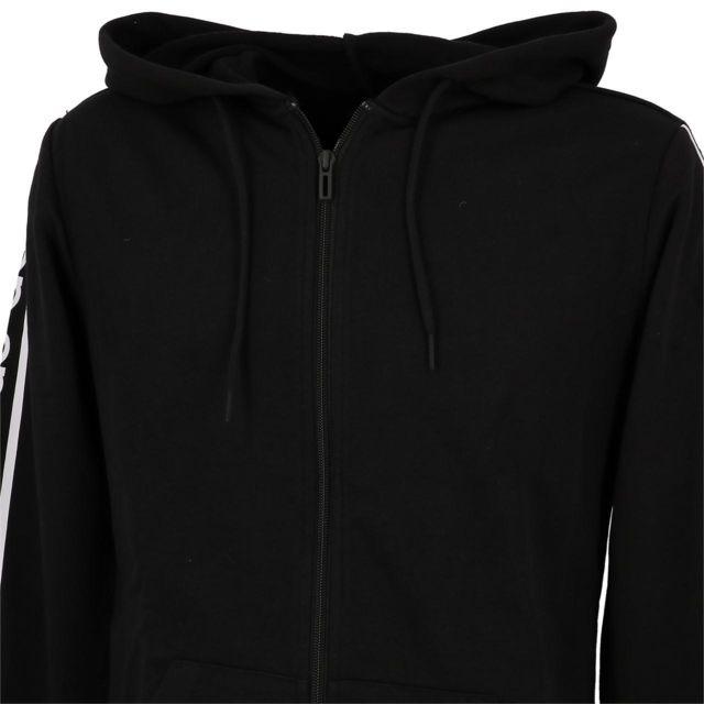 Adidas Vestes sweats zippés capuche C90 black fz cap Noir