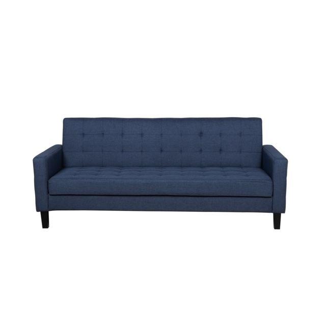 BELIANI Canapé lit bleu foncé VEHKOO