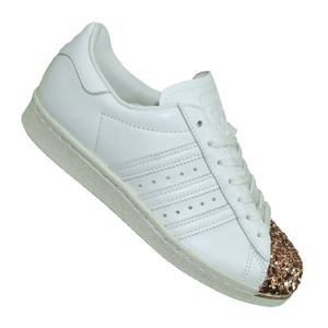 2e0f0228513 adidas Originals Baskets Superstar 80s 3D Metal Femme Blanc Original En  Ligne hIomduf