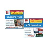 Micro Application - Pack 2 Logiciels - Courriers Types + 4 Dictionnaires - Pc