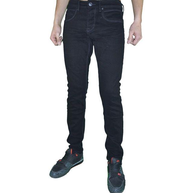 3b4ab225e5bdc Autre - Original Ado - Jean - Homme - D2146 Slim Fit - Noir Coutures ...
