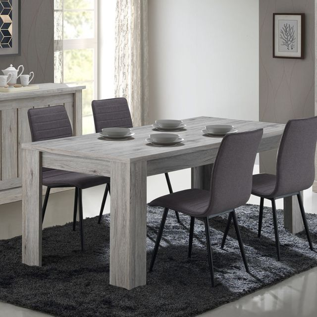 Nouvomeuble Table 170 cm couleur chêne rustique Edyne