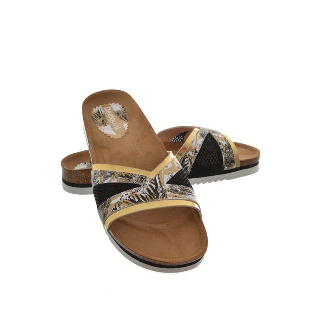Desigual - sandales - nu pieds shoes beach bio 11 nora beige 36 - pas cher  Achat   Vente Sandales et tongs femme - RueDuCommerce ee40429f644e