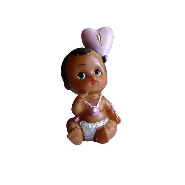Figurine bébé fille noire 7 cm