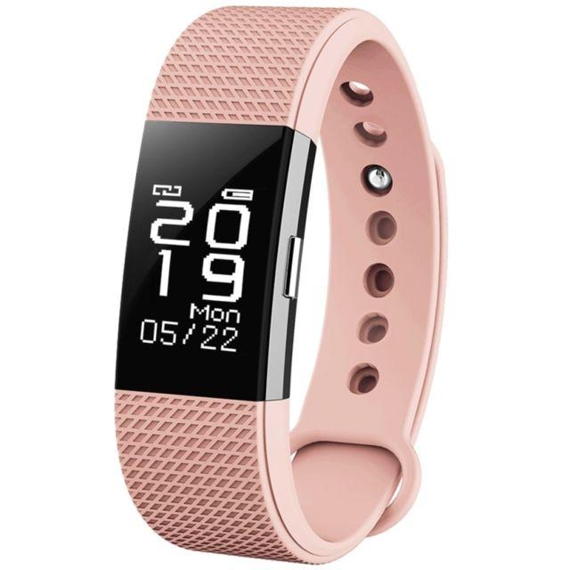 Wewoo - Bracelet connecté rose 0.71 pouces Oled écran tactile Bluetooth Sports Smart Bracelet, Ip67 imperméable à l'eau, cardiofréquencemètre / podomètre / appels rappeler / sommeil moniteur / rappel sédentaire / réveil / distance, Compatible avec Android et iOS