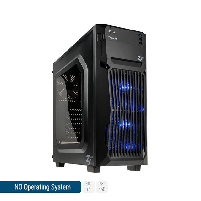 SEDATECH PC Gamer, Intel i7, RX550, 1To HDD, 8 Go RAM, sans OS. Ref: UCM6058I1