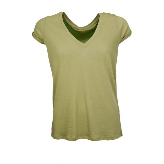 1a4532d6c5bef4 Ralph Lauren - T-shirt col V kaki pour femme - pas cher Achat ...