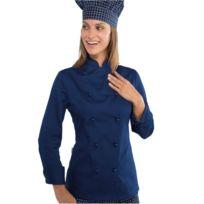 Isacco - Veste de cuisine femme Bleue Lady Chef