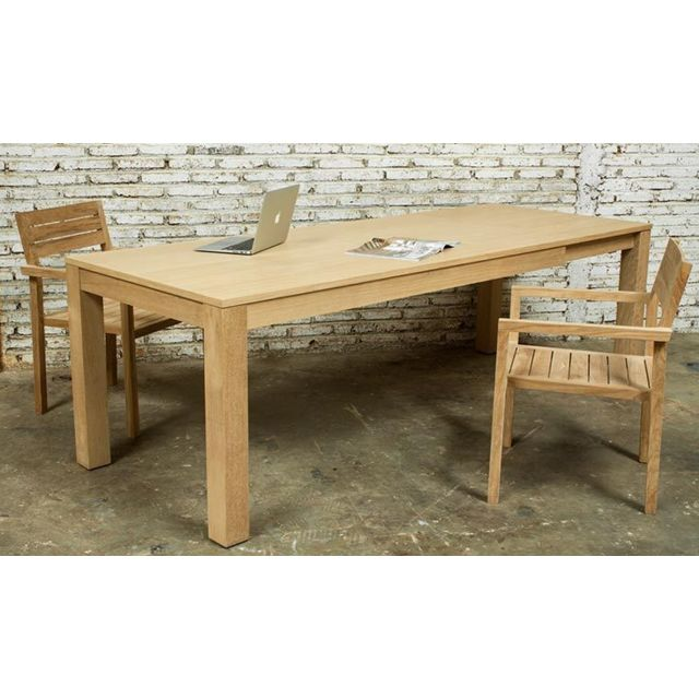 Delorm table a manger extensible chene massif 180 235 cm kubico pas cher achat vente for Carrefour table a manger