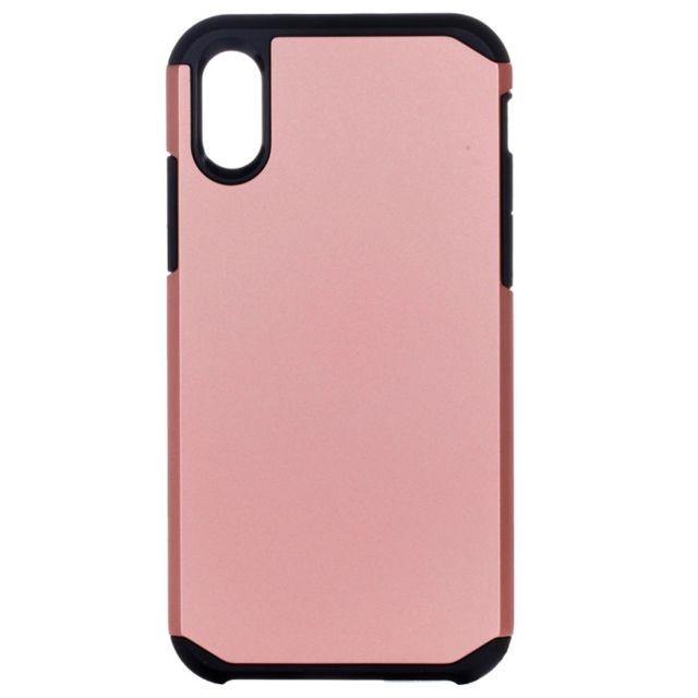53a9ecd4c4 Wewoo - Coque renforcée rose pour iPhone X Pc + Tpu Armure Robuste  Couverture de Protection