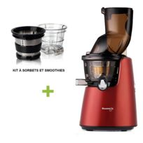 Kuvings - Pack promo D9900 Rouge Mat + Kit à smoothies et sorbets