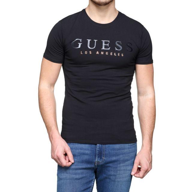 0dda021ff2fc9c Guess - T Shirt M74i60 - J1300 A996 Noir - pas cher Achat   Vente Tee shirt  homme - RueDuCommerce