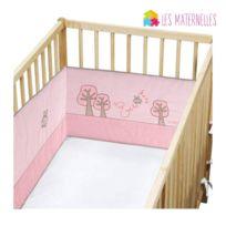 Les Douces Nuits de Maé - Tour de lit rose pour lit bébé