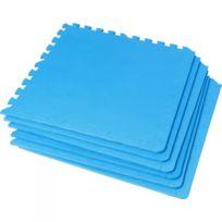 Gorilla Sports - 6 tapis de protection en mousse - épaisseur 1,2cm - 18 éléments - Coloris Noir, Bleu, Gris, Rouge, Bois foncé, Bois clair - Bleu
