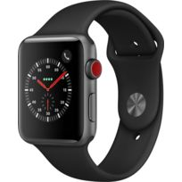 APPLE - Watch 3 Cellular 42 - Alu noir / Bracelet Sport noir