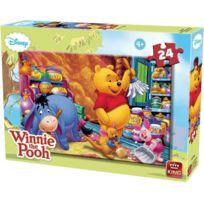 KING - Puzzle 24 Pieces Disney - Bourriquet Et Winnie L Ourson Font Du Menage Enfant
