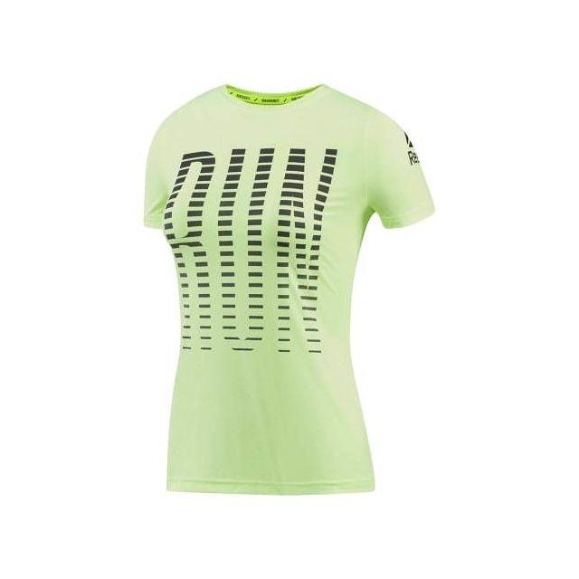 Reebok T shirt Running ActivChill Graphic manches courtes