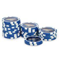 Pokeo - Rouleau 25 jetons Laser Las Vegas $10 bleu