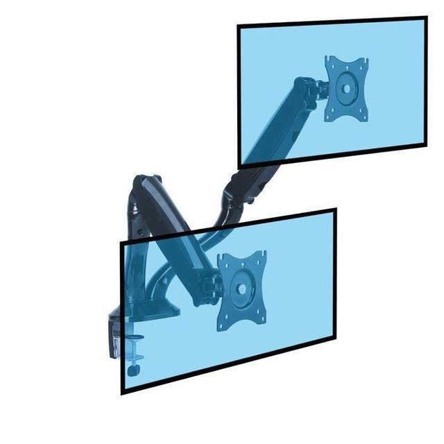Kimex Support de bureau Full Motion 2 écrans Pc 13''-27