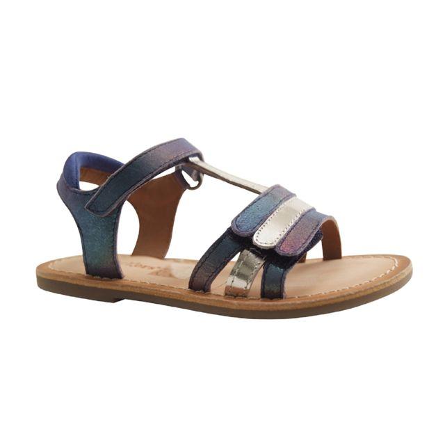 d67b812ed890 Kickers - diamanton-sandale Salome-bleu Marine - pas cher Achat   Vente  Sandales et tongs enfant - RueDuCommerce