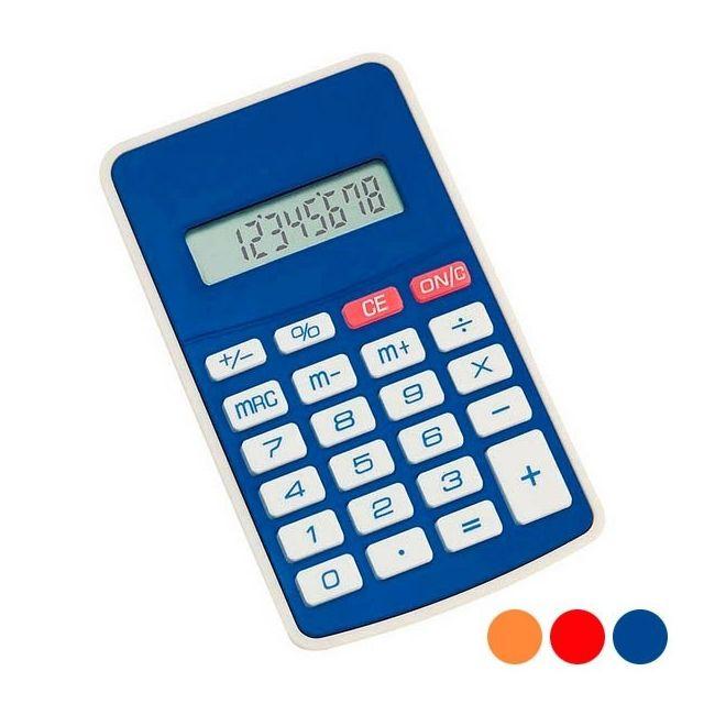 Totalcadeau Calculatrice Bicolore fonctionnant à pile Couleur - Bleu