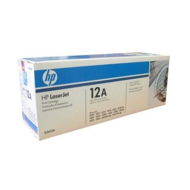 Totalcadeau Toner Hp 12A Q2612a, pour imprimante Hp Toner Laserjet Noir 2.000 pages