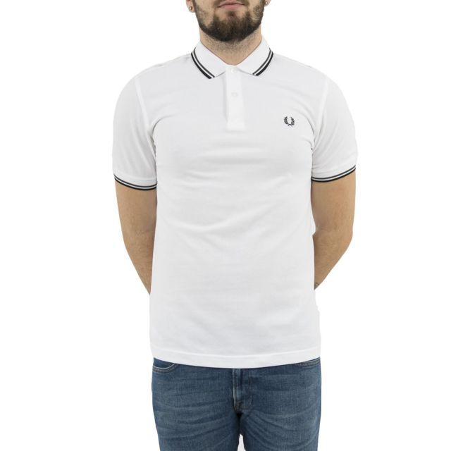 Fred Perry - Polos mm3600 blanc - pas cher