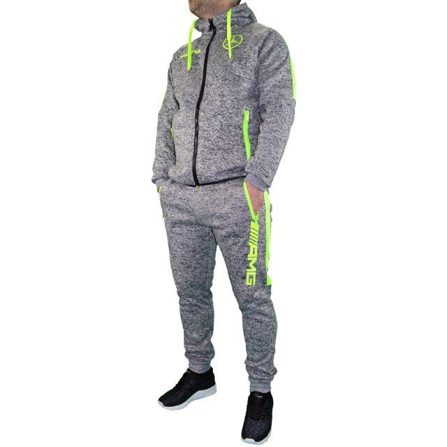 autre closeout ensemble complet jogging homme ensemble amg mercedes chin 02 gris. Black Bedroom Furniture Sets. Home Design Ideas