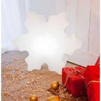 Techneb - Flocon lumineux Neige intérieur extérieur blanc, Led multicolore
