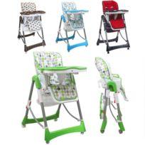 MONSIEUR BEBE - Chaise haute bébé pliable réglable hauteur dossier tablette